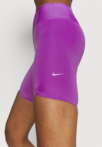 Nike Performance - ONE LUXE - Tights - wild berry/white - 5
