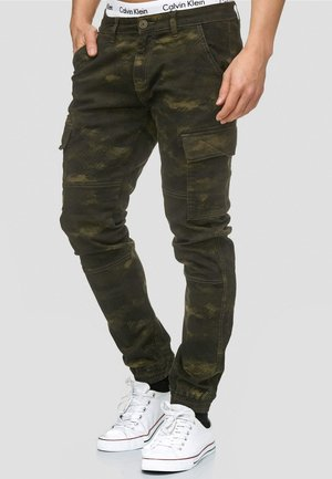 AUGUST - Pantalon cargo - dark green