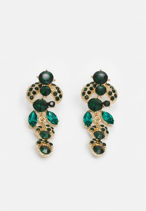 PCMAGGY EARRINGS - Oorbellen - gold-coloured/green