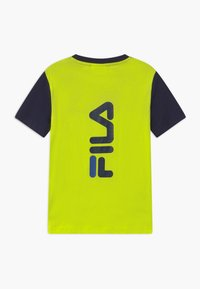 Fila - MARCO BLOCKED  - Print T-shirt - lime popsicle/black iris - 1