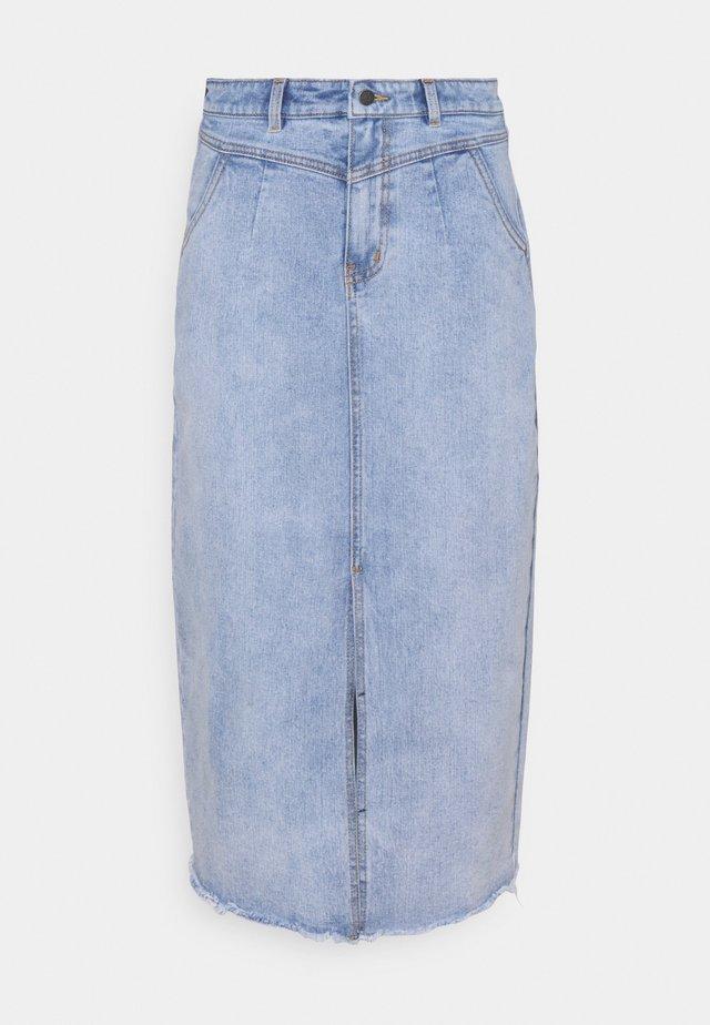 OBJMOJI CUTLINE SKIRT - Jeansrok - light blue denim