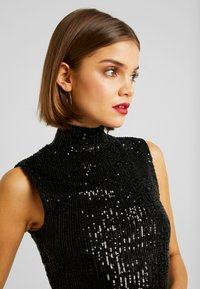 Gina Tricot - EXCLUSIVE HOLLY GLITTER - Blouse - black - 5