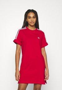 adidas Originals - TEE DRESS - Jersey dress - scarlet - 0