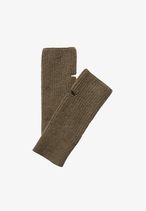 HANDGELENKWÄRMER  - Fingerless gloves - nutshell brown