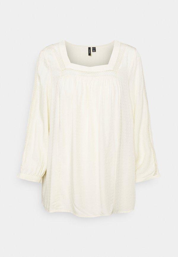 Vero Moda Tall VMEMINA - Bluzka z długim rękawem - birch/mleczny GEUA