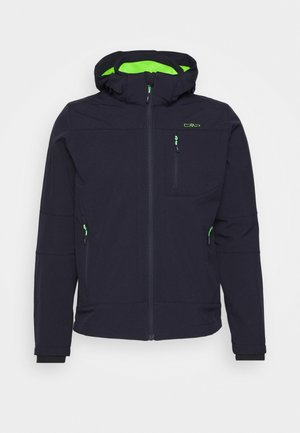 MAN JACKET ZIP HOOD - Softshelljacka - blue/verde