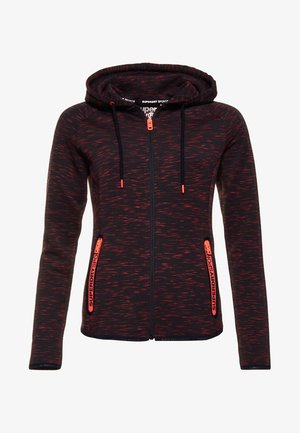 GYM TECH LUXE  - Trainingsjacke - black/hot coral