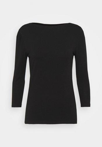 FITTED SLASH - Topper langermet - black