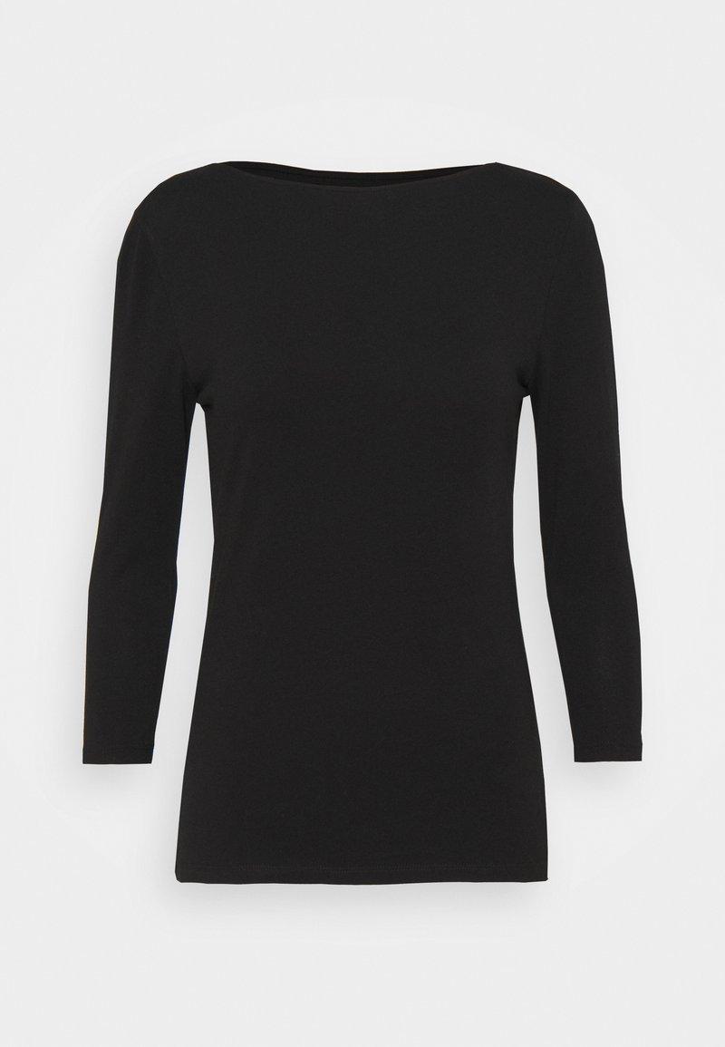 Marks & Spencer London - FITTED SLASH - Long sleeved top - black