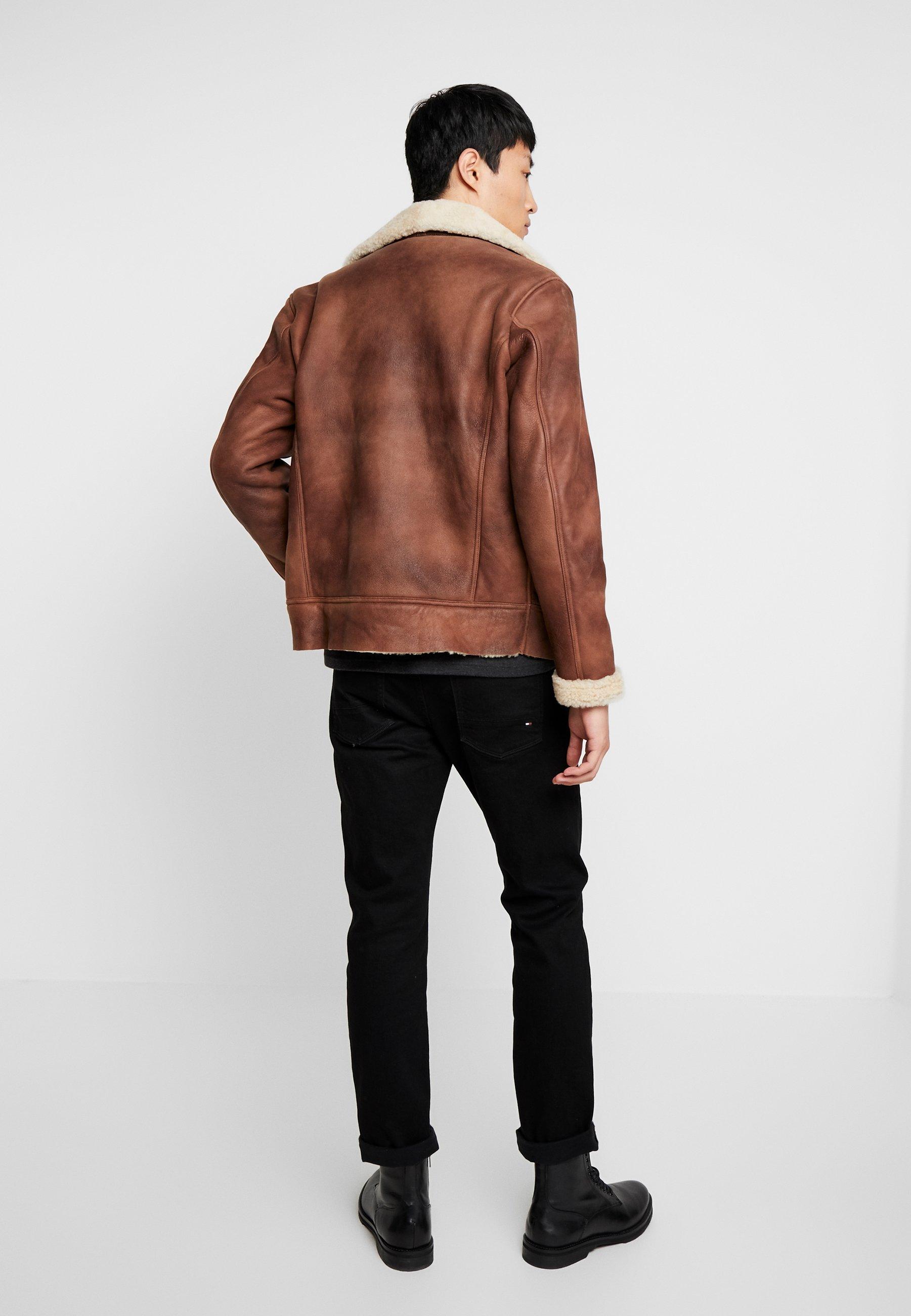 Schott Veste en cuir - rust