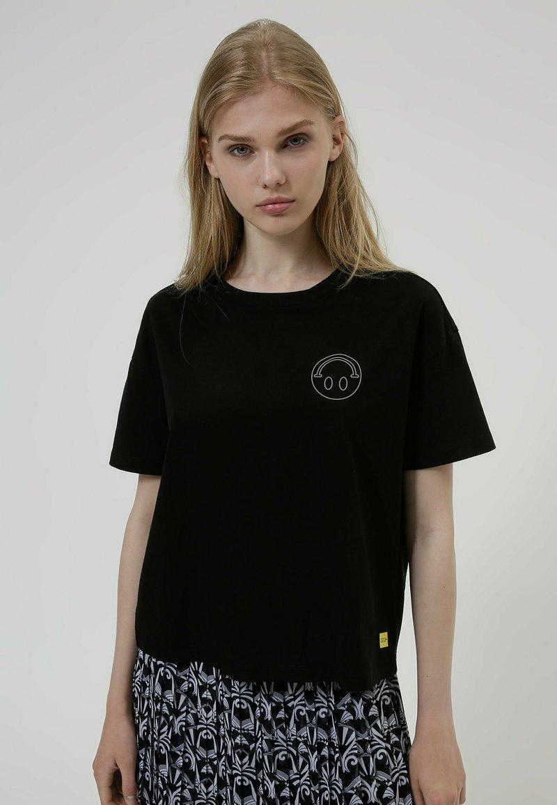 HUGO - HUGO x Smiley® DACHELLE  - Print T-shirt - black