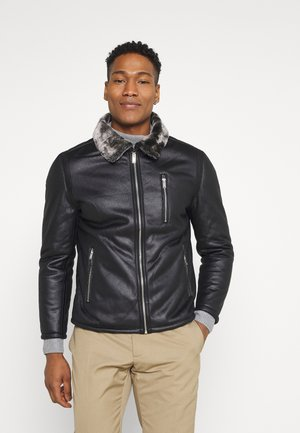 SHADOW - Faux leather jacket - black