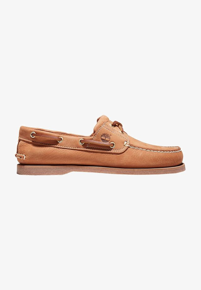 Chaussures bateau - biscuit