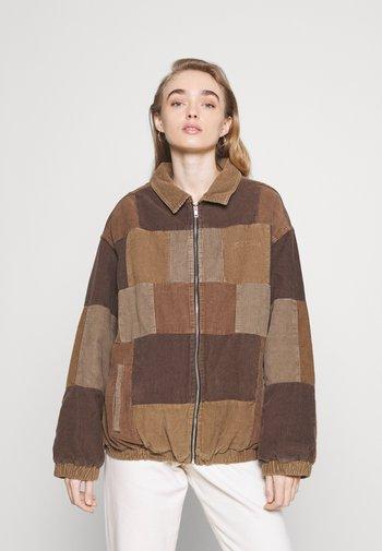 PATCHWORK HARRINGTON  - Summer jacket - brown