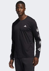 adidas Performance - LIL STRIPE CANNONBALL T-SHIRT - Long sleeved top - black - 0