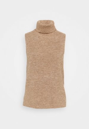 VEST- ROLL NECK - Strikkegenser - camel
