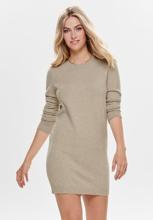 JDYMARCO DRESS - Pletené šaty - beige