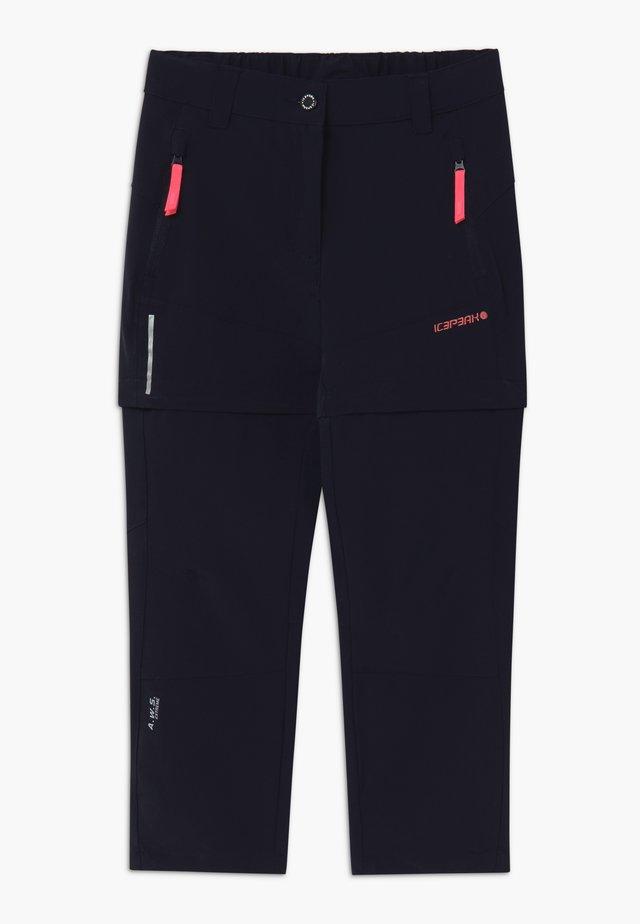 KANO 2-IN-1 - Długie spodnie trekkingowe - dark blue