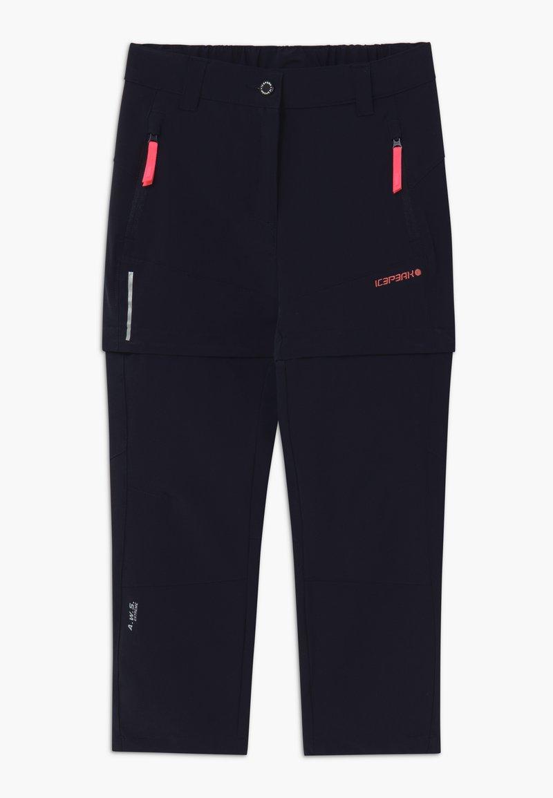 Icepeak - KANO 2-IN-1 - Pantalones montañeros largos - dark blue