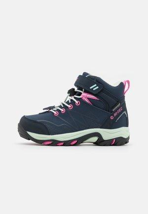 BLACKOUT MID WP UNISEX - Hiking shoes - light navy/light mint/light fuchsia