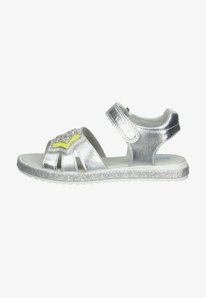 Walking sandals - silver/neon yellow