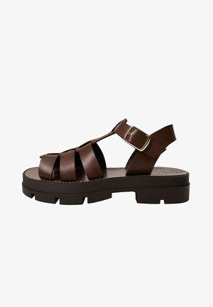 ROMA - Platform sandals - chocolat