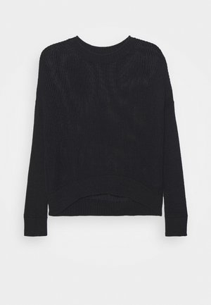 LONGSLEEVE BOAT NECK - Jumper - black