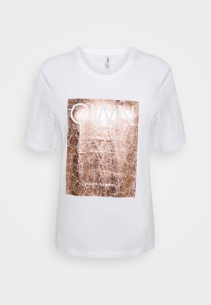 ONLIVY - T-shirts med print - bright white