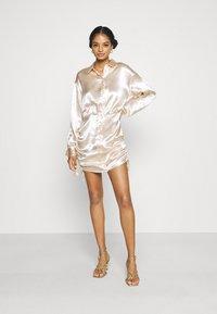 Gina Tricot - SIDNEY SHIRT DRESS - Cocktail dress / Party dress - sandshell - 1