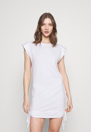 ONLPERNILLE ROUCHING DRESS - Trikoomekko - white