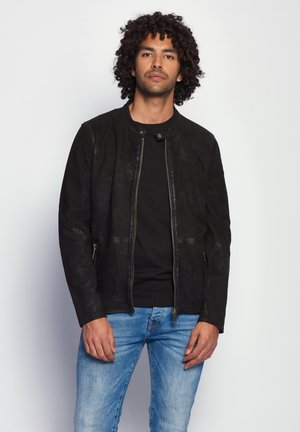 PRESCOTT - Leather jacket - black
