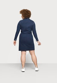 Pieces Curve - PCSILIA DRESS - Denim dress - dark blue denim - 2