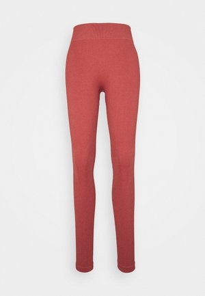 SEAMLESS HIGH WAIST LEGGING - Punčochy - cocoa