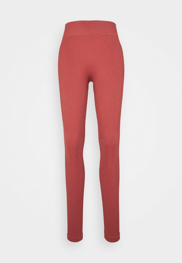 SEAMLESS HIGH WAIST LEGGING - Medias - cocoa