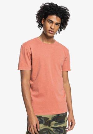 BUBBLE EMBROIDERY - Basic T-shirt - cinnamon