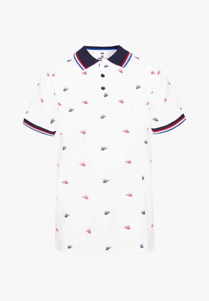 WE Fashion - MIT MUSTER - Poloshirt - white
