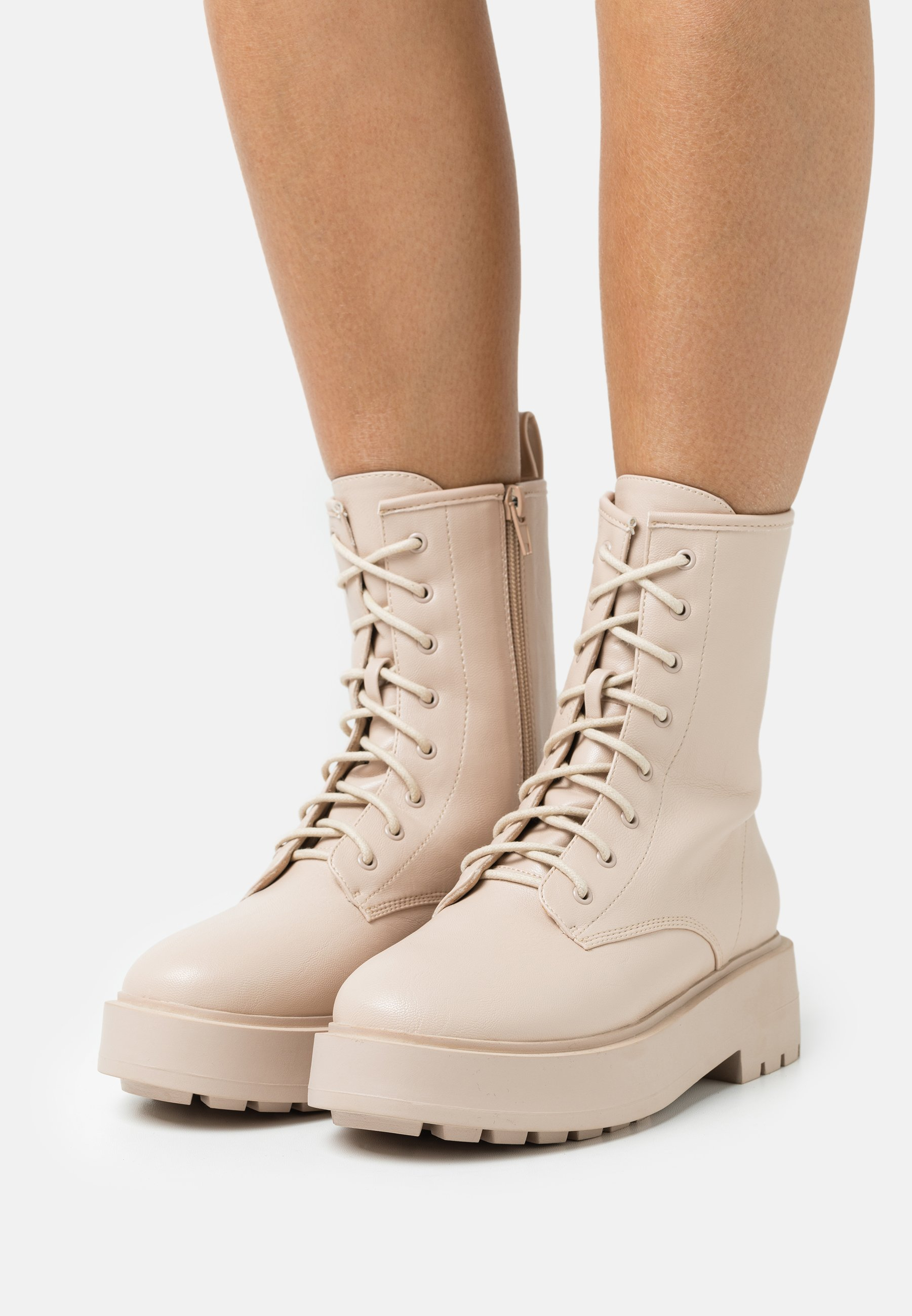 Women PERFECT LACED UP BOOT - Platform ankle boots