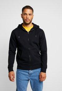 Solid - MORGAN - Zip-up hoodie - black - 0