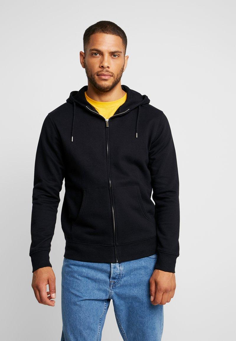 Solid - MORGAN - Zip-up hoodie - black