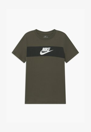TEE CHEST PANEL - T-shirt con stampa - cargo khaki
