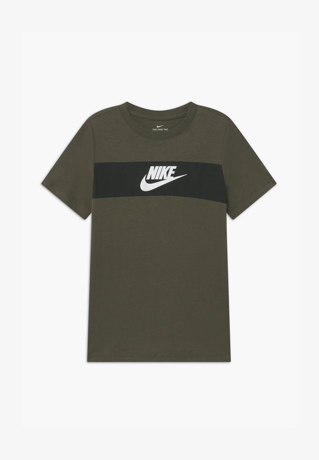 TEE CHEST PANEL - T-shirt imprimé - cargo khaki