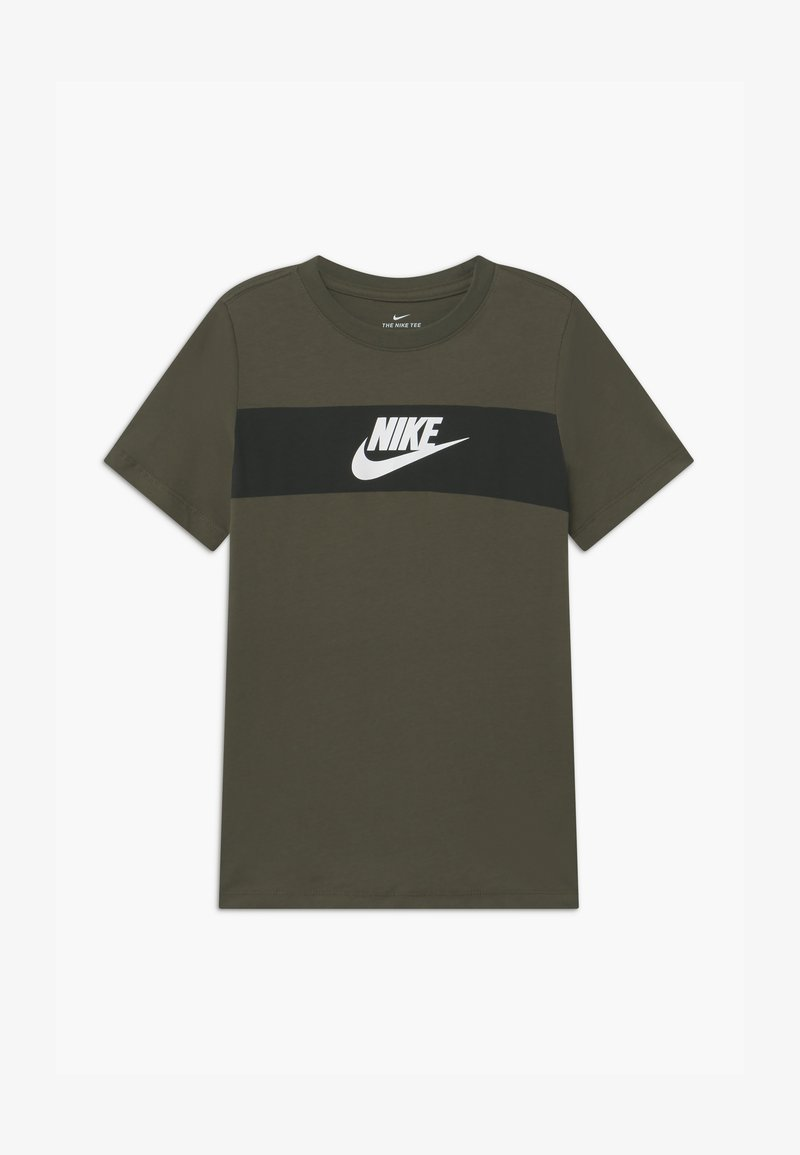 Nike Sportswear - TEE CHEST PANEL - Print T-shirt - cargo khaki