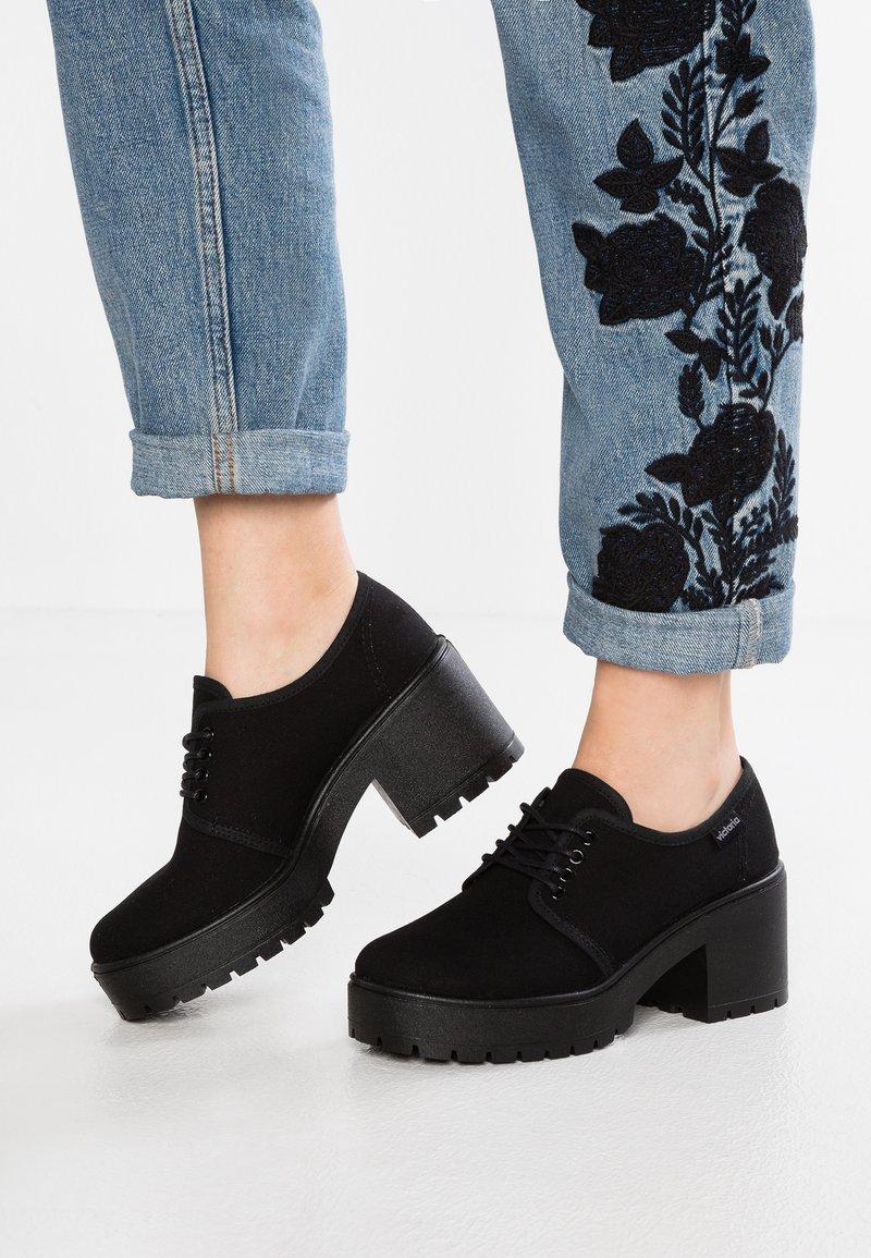 Victoria Shoes - ZAPATO LONA PISO - Kotníková obuv - black