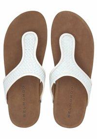Belmondo - ZEHENTRENNER - T-bar sandals - weiß - 2