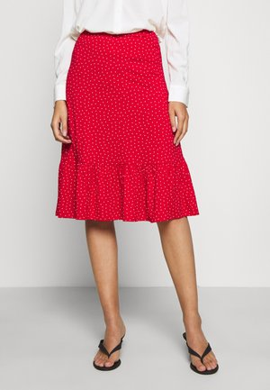 ESME SKIRT LITTLE DOTS - Pencil skirt - chili red