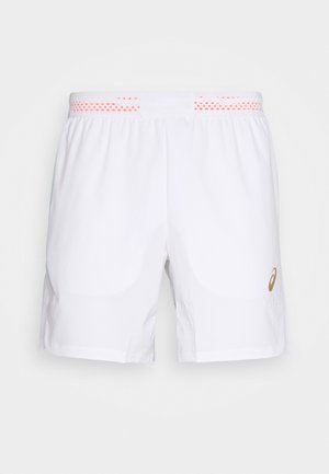 TENNIS SHORT - Krótkie spodenki sportowe - brilliant white/sunrise red