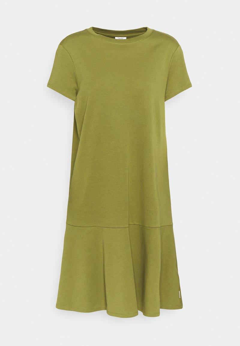 Marc O'Polo DENIM - PEPLUM DRESS - Jersey dress - fresh herbs