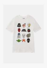 GAP - BOY  - T-shirt z nadrukiem - new off white - 0