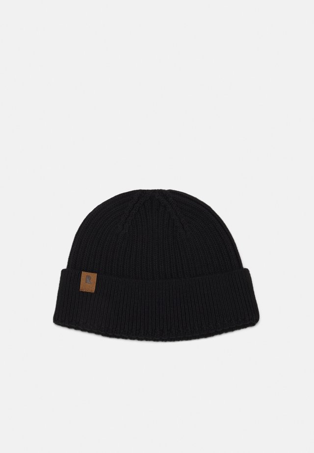 FISHERMEN BEANIE - Berretto - black
