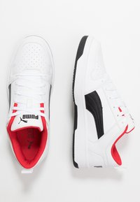 Puma - REBOUND LAYUP UNISEX - Sneakers - white/black/high risk red - 1